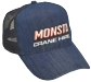 DENIM TRUCKER CAP, COST INCLUDES ALL DECORATION & INNER LABELS