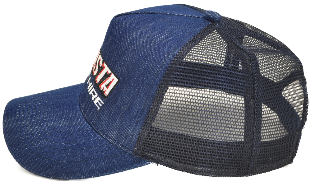 Wholesale Custom denim trucker hats snapbacks and velcro rear adjuster. d29f6cd22b9