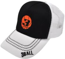 CUSTOM MAKE FABRIC/FOAM/MESH TRUCKER HAT SCISSOR STITCH & CONTRAST UNDER-PEAK