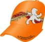 FABRIC/FOAM/MESH CUSTOM EBROIDERED CROWN/BRIM ORANGE/ORANGE