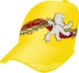FABRIC/FOAM/MESH CUSTOM EBROIDERED CROWN/BRIM YELLOW/YELLOW