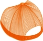 FABRIC/FOAM/MESH CUSTOM EBROIDERED CROWN/BRIM BACK PANEL ORANGE