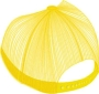 FABRIC/FOAM/MESH CUSTOM EBROIDERED CROWN/BRIM BACK PANEL YELLOW