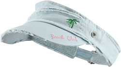 CUSTOM MAKE VISOR WITH TERRY TOWEL HEADBAND INNER