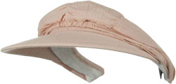 CUSTOM MAKE FOLD UP VISOR/HAT VISOR FOLDED FORM