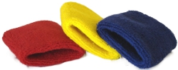 PLAIN STOCK TERRY TOWELLING WRISTBANDS